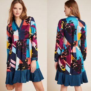 ANTHROPOLOGIE Gillian Abstract Shirtdress NWT XS